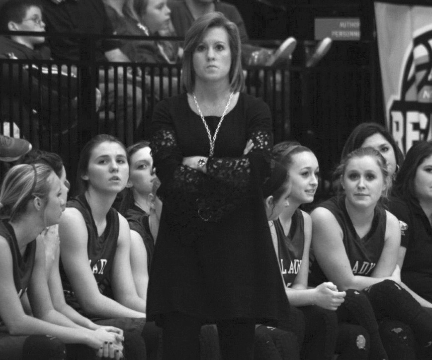 Locust Fork head coach Barbara Roy is the picture of intensity during last week's Northeast Regional championship game.
