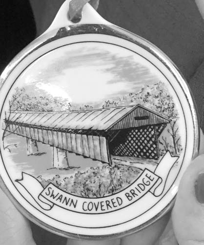 The Blount County Memorial Museum has received the 2016 Swann Bridge Christmas ornaments. There are three ornaments to a set and they can be purchased at the museum. Horton Mill Covered Bridge and Easley Covered Bridge ornaments are also available for purchase. - Jamishae Woodard