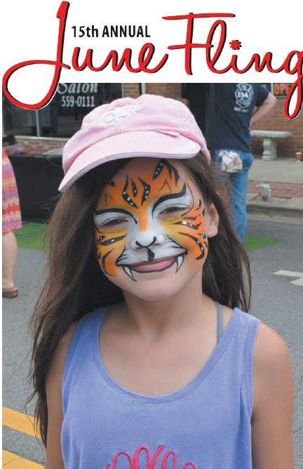 Lois Ann Wester, L. A. to her friends, got in the June Fling spirit with... facepaint??? Sure, why not. L. A. was among the many festival- goers that packed downtown Oneonta last Saturday for the 15th annual June Fling, sponsored by the Oneonta Business Association. The record- breaking crowd was greeted by more vendors than ever before and there was plenty of food and entertainment for all. The Singing Showdown was a big hit, once again, and lots of music fans hung around to hear the winners Saturday night. For a complete list of winners, see page A7. - Rob Rice