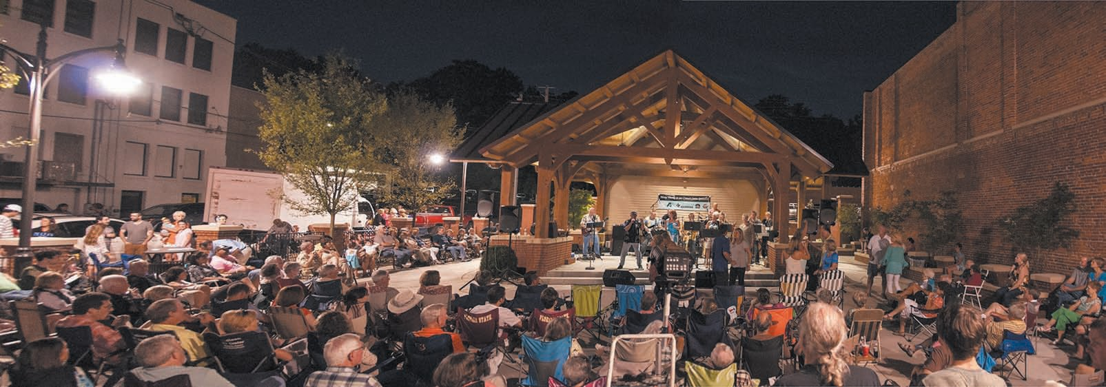 Errol Allen Park in downtown Guntersville was built as a result of the ACE process of identifying needs and meeting them. It has become a magnet for concerts and other civic events in the town center.