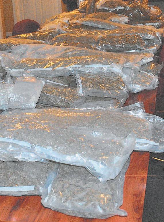 110 pounds of marijuana recovered in Blountsville drug bust.