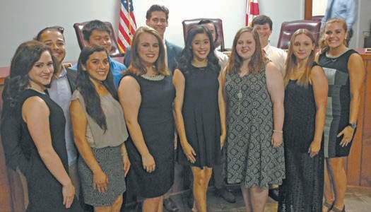 Newly appointed Oneonta High School Ambassadors attend the Oneonta City Council meeting.