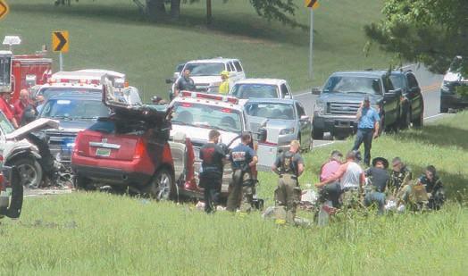 This head-on collision May 23 on Ala 79 near Green's Chapel Church left three dead.