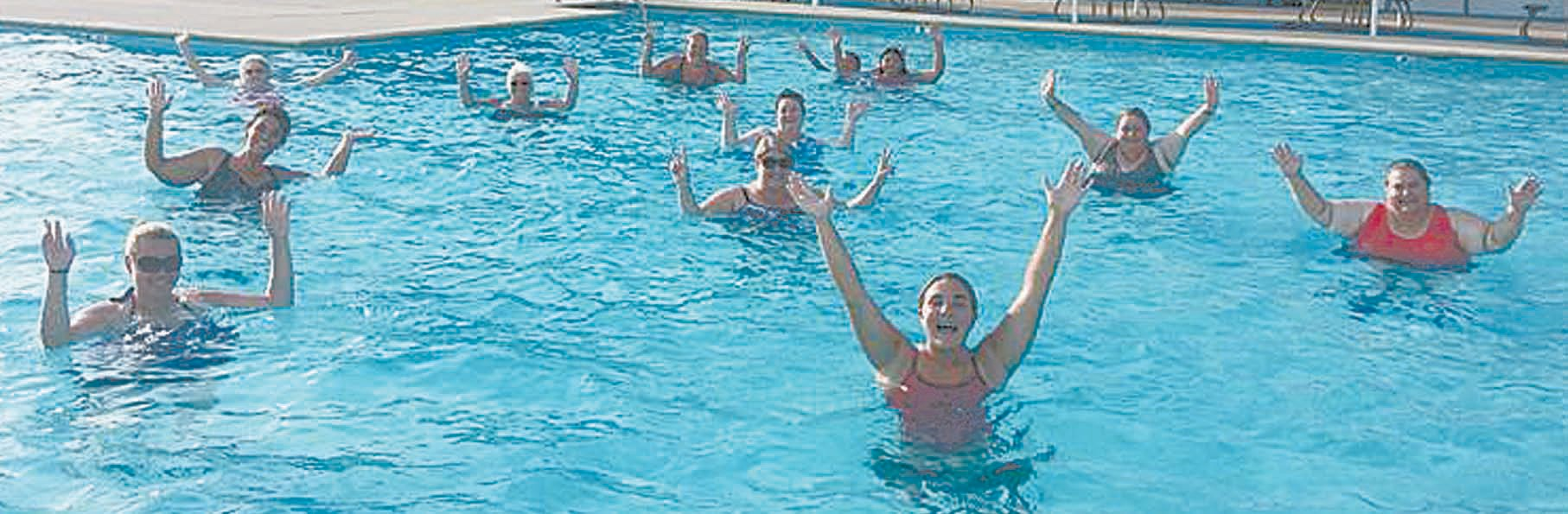 Water aerobics is a big hit at the Blountsville Town Pool.