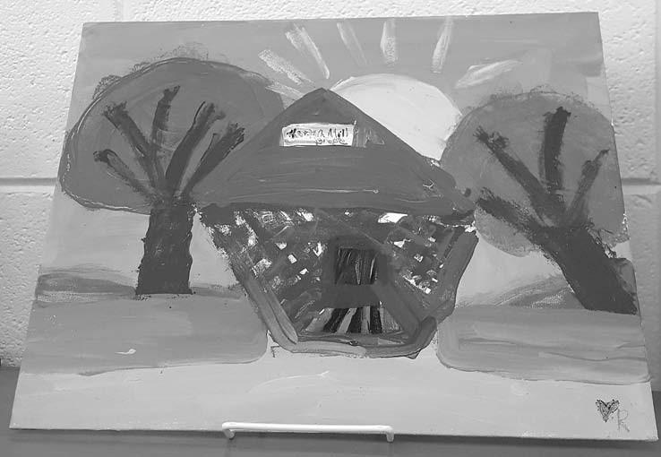 'Horton Mill Bridge' - Riley Mason acrylic on canvas