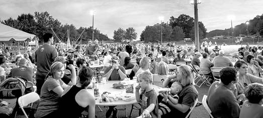 The tables are expected to be packed again this year for Midsummer Night's Run.